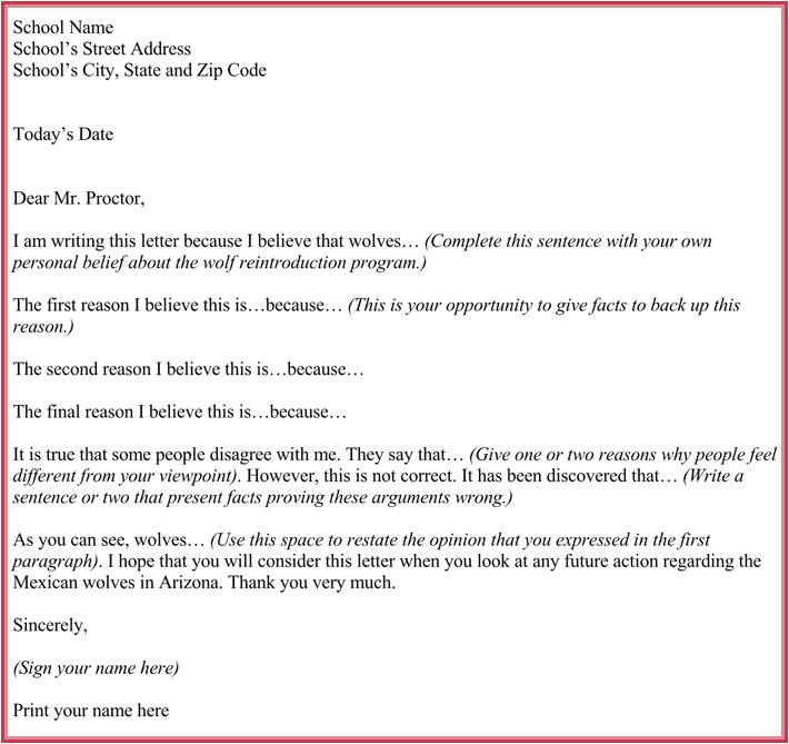 persuasive letter template