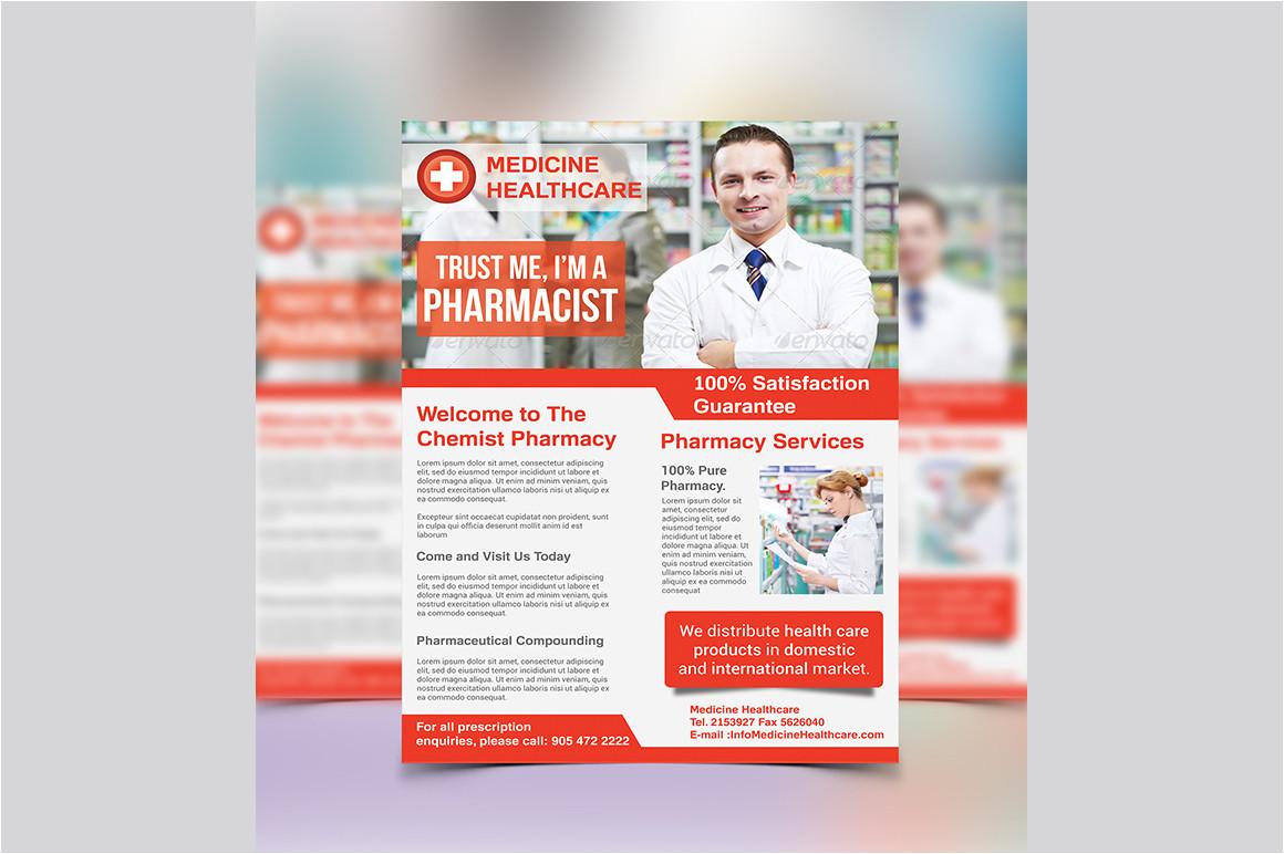 195492 pharmacy flyer template