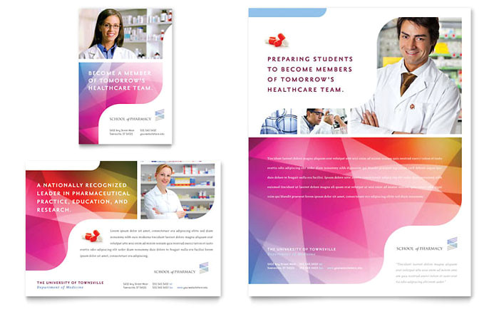 pharmacy school flyer ad template design md0250701