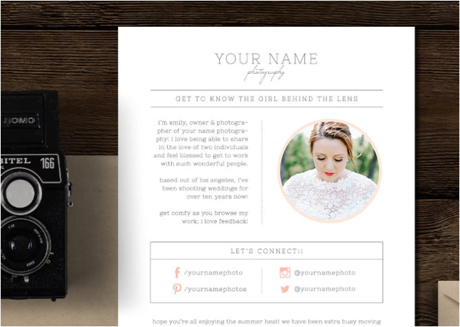 email newsletter template for photographers wedding planners photography marketing templates magazine style newsletter m0210