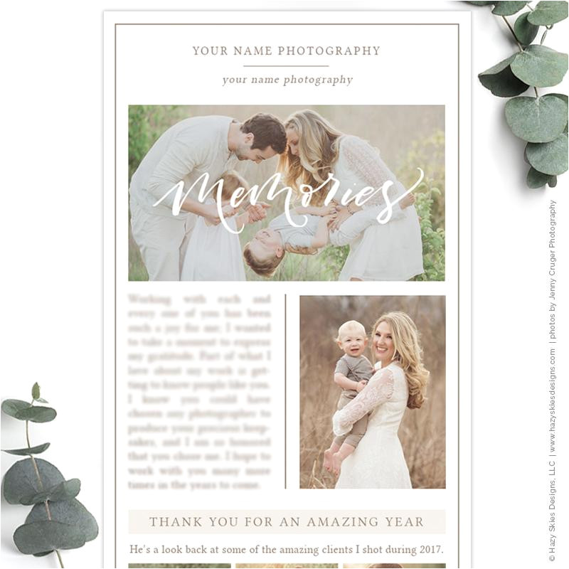 photography email newsletter template year in review