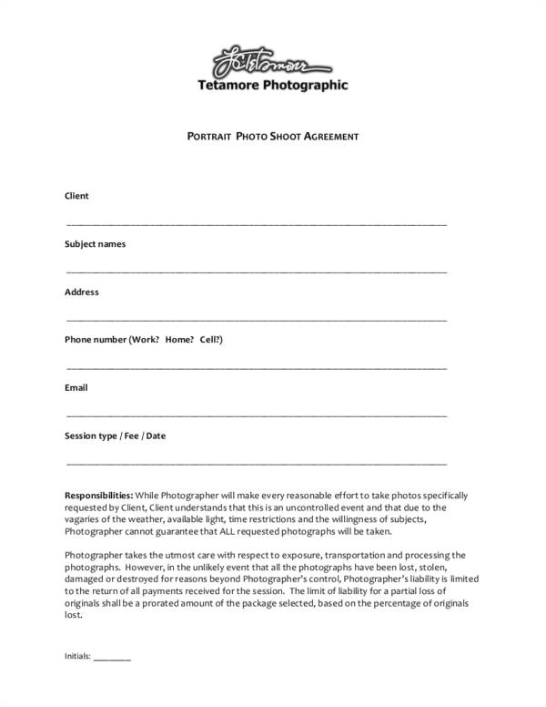 Photoshoot Contract Template 23 Photography Contract Templates and Samples In Pdf