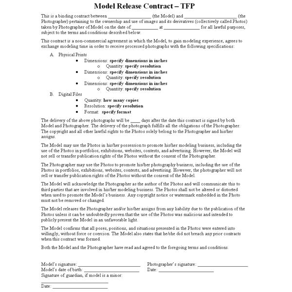 makeup artist contract for photo shoot