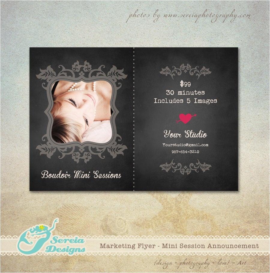 boudoir announcement flyer photoshop