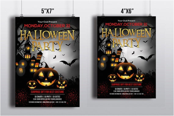 halloween party flyer template printable