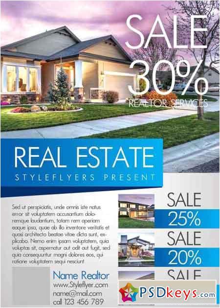 43659 real estate v5 psd flyer template
