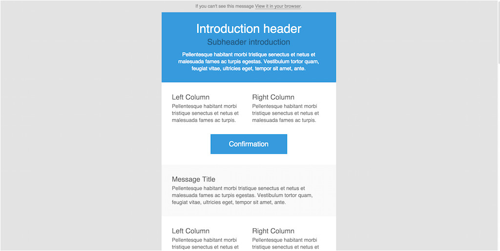 send email html template using php