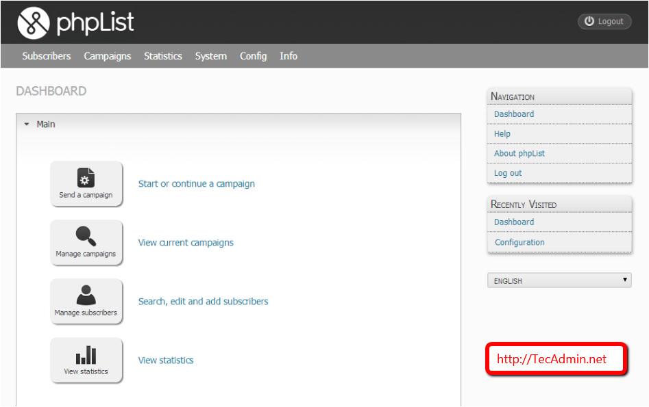 setup phplist opensource newsletter manager on linux