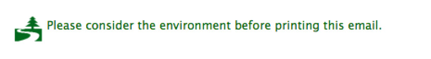 please consider environment printing e mail