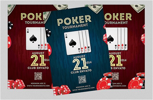 162836 poker night flyer or poster
