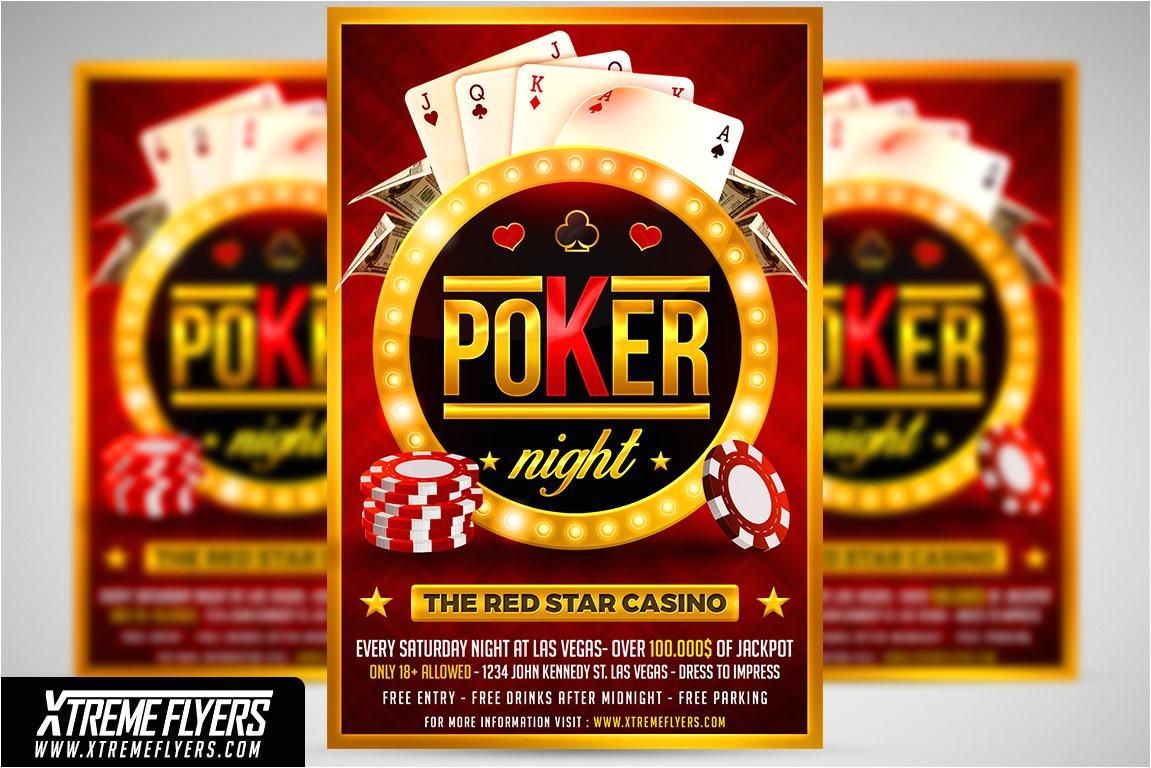 2262710 poker night flyer template