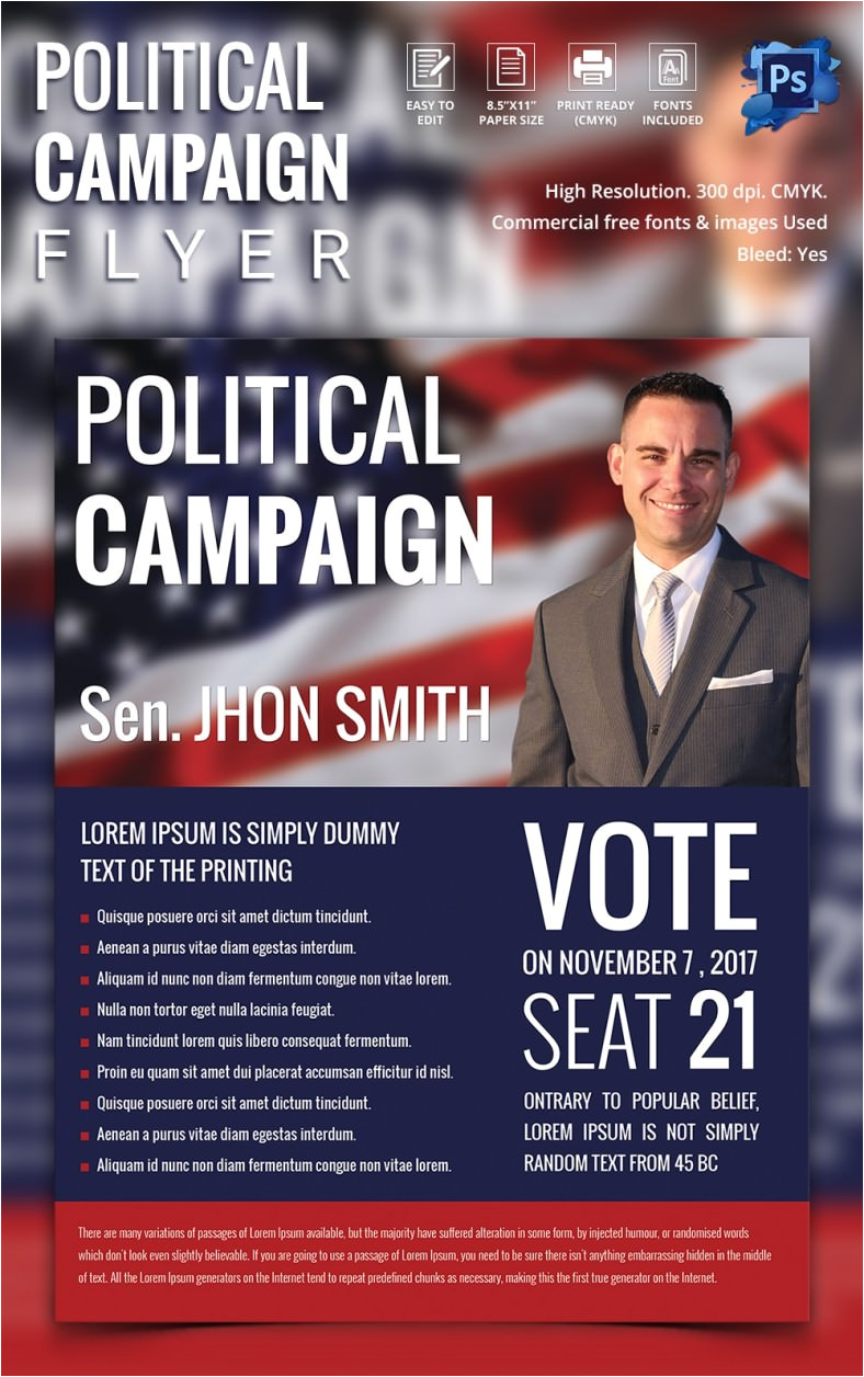 Political Flyers Templates Free Campaign Flyers 31 Free Psd Ai Vector Eps format