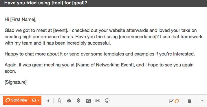 12 networking follow up emails 5b56da833fee