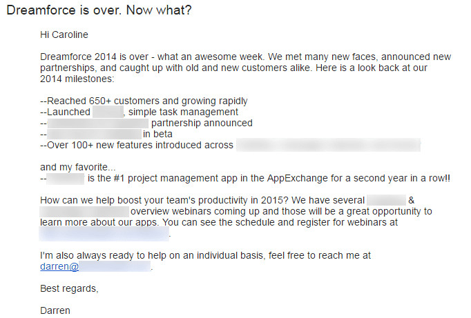 7 examples spruce up your b2b email follow up