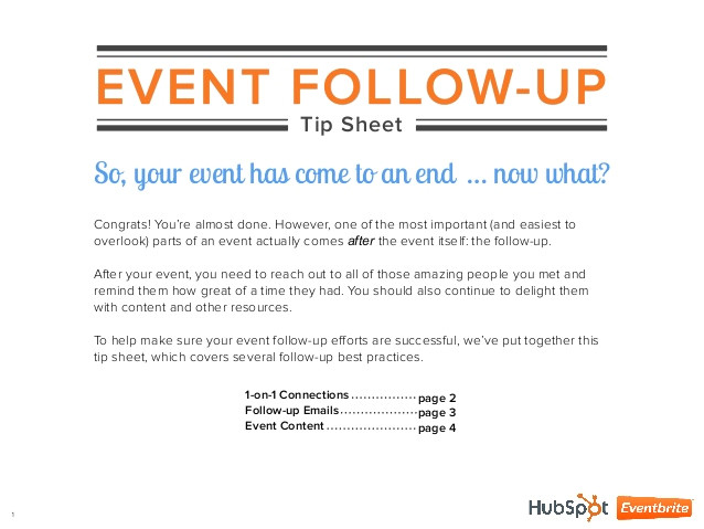 9 event follow up tip sheet
