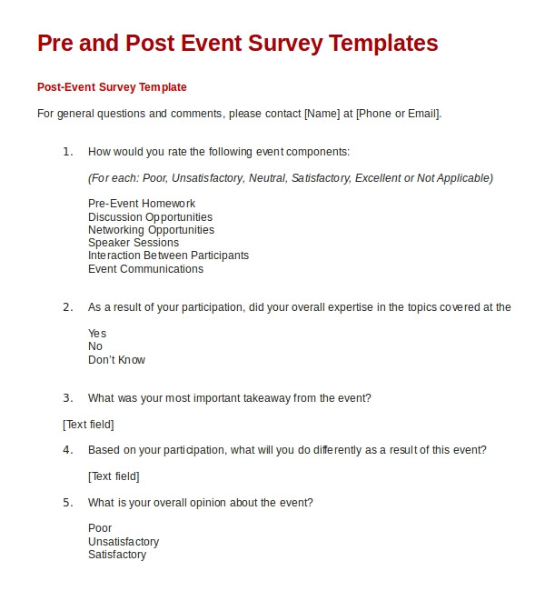 sample feedback survey