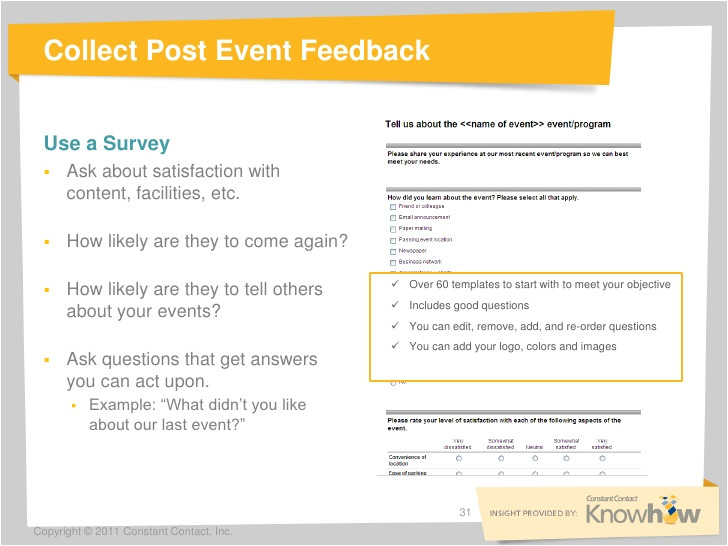 31 collect post event feedback use