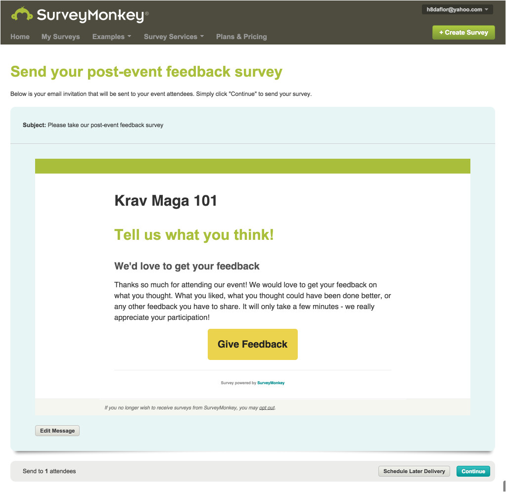 how to send a survey to attendees with eventbrites surveymonkey integration lg en gb