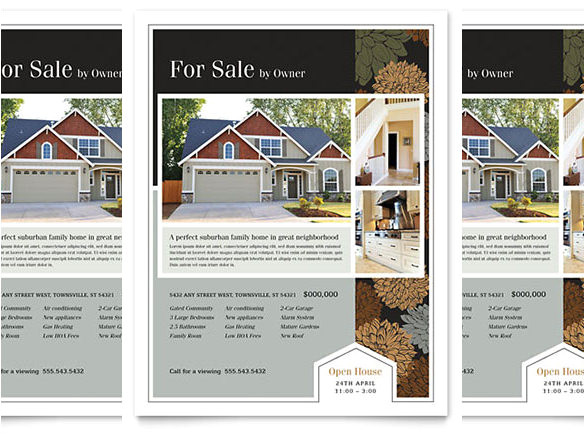 word real estate flyer