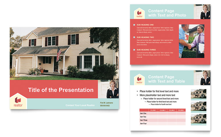 home real estate powerpoint presentation templates gb0542501d