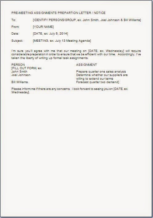 Pre Meeting Email Template Pre Meeting Email Sample Citehrblog