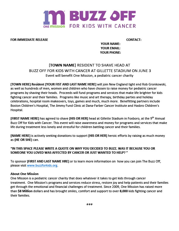 press release template instructions