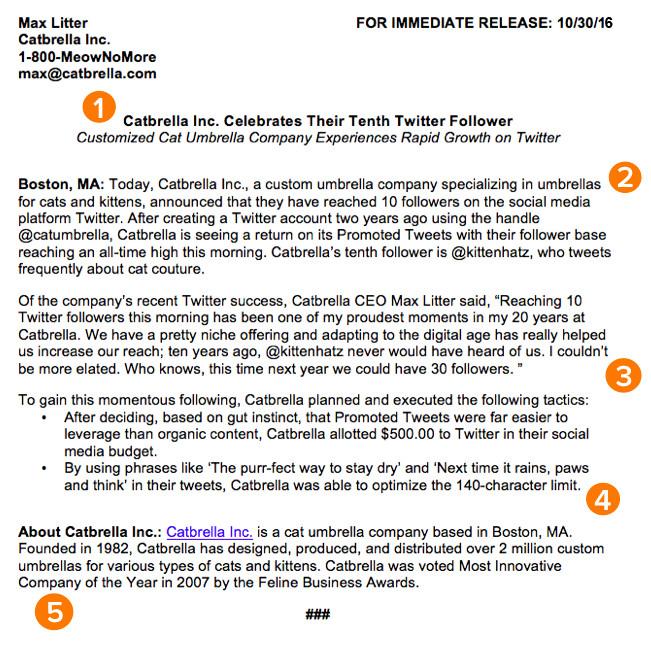 press release template ht