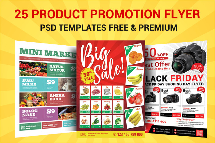 free product promotion flyer psd templates
