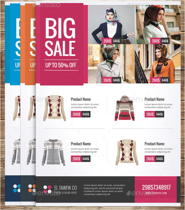 18 nice product sale flyer templates