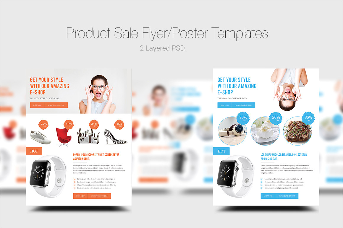 156353 product sale flyerposter templates