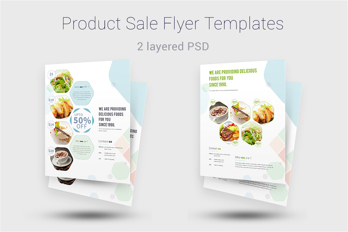 Product Sale Flyer Template Product Sale Flyer Templates Templates On Creative Market