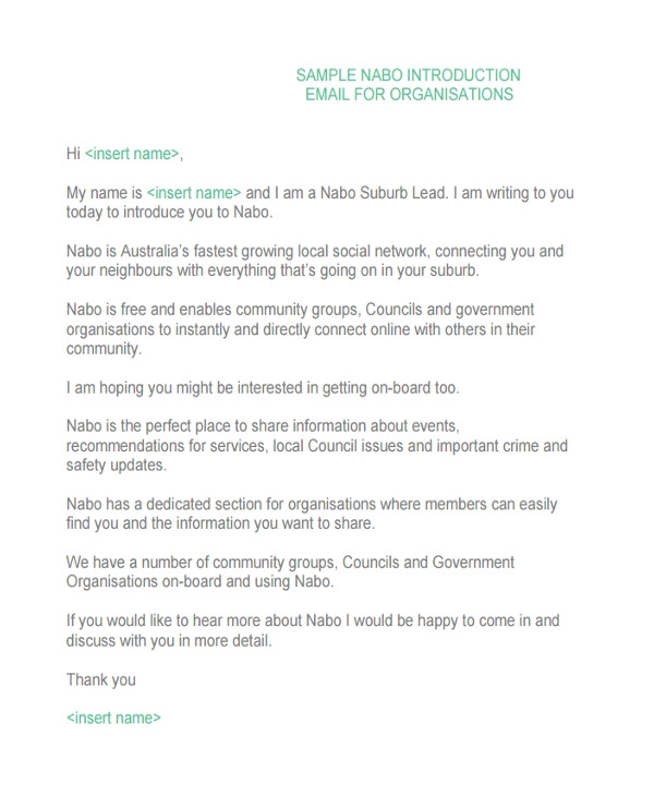 Professional Introduction Email Template 4 Introduction Email Examples Samples Pdf Doc Examples