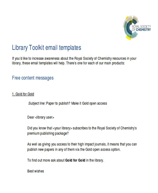 promotional email