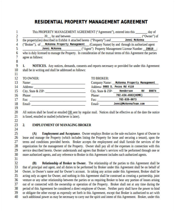 management agreement