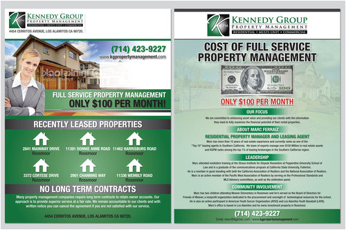 8 1 2 x 11 mailer flyer for property management firm 1