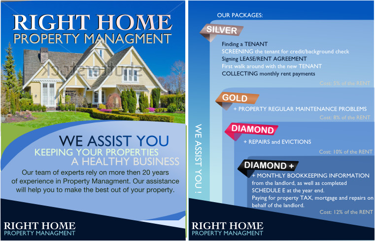 help right home property management postcard flyer 169528