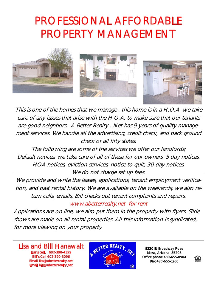 professional property management flyer