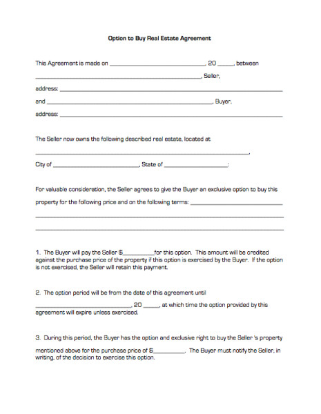 option to purchase agreement