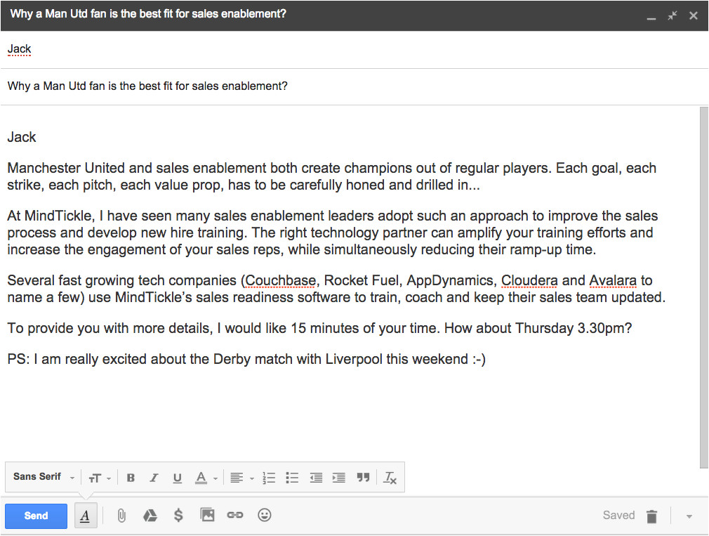 why did 33 of prospects reply to this cold email