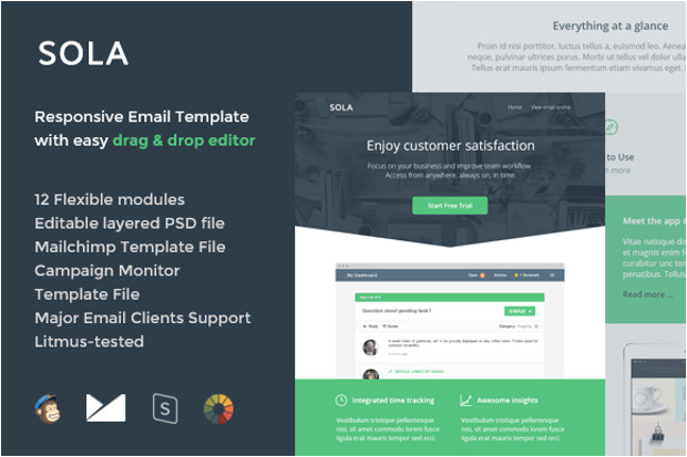e mail psd template
