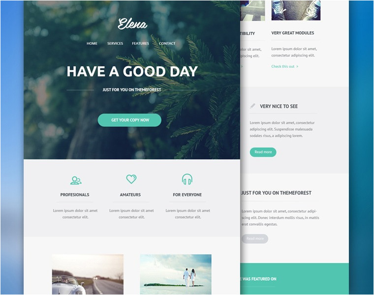 free email psd and html templates