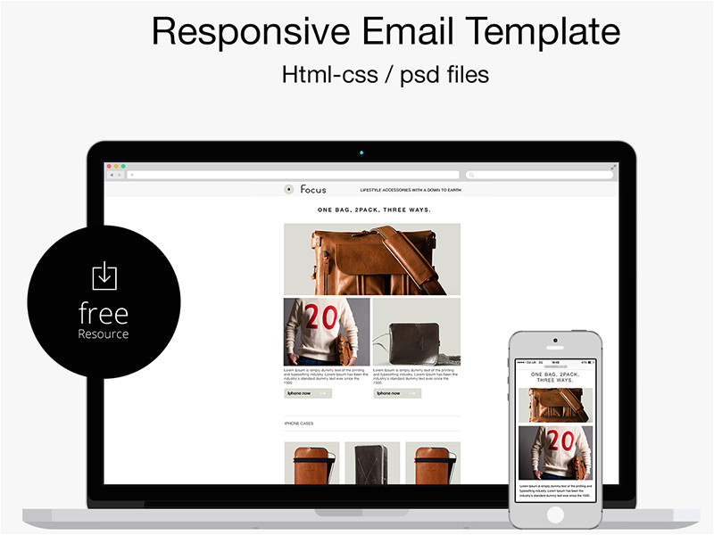 1506390 free psd html responsive email template