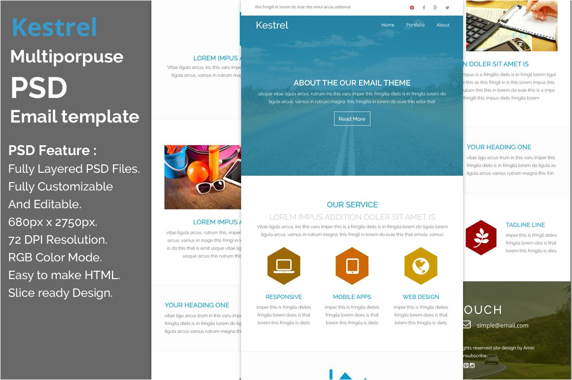 298377 kestrel psd email template