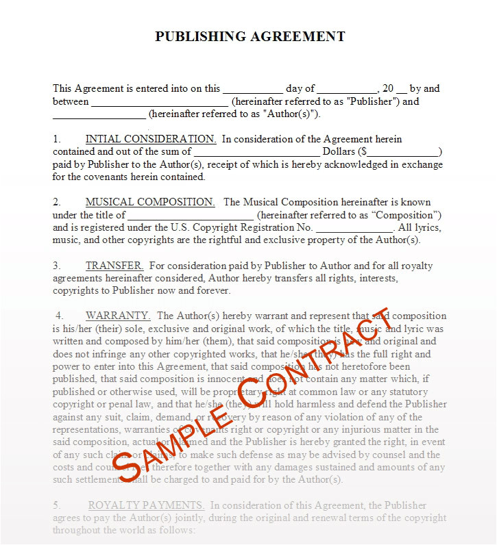 free music contracts