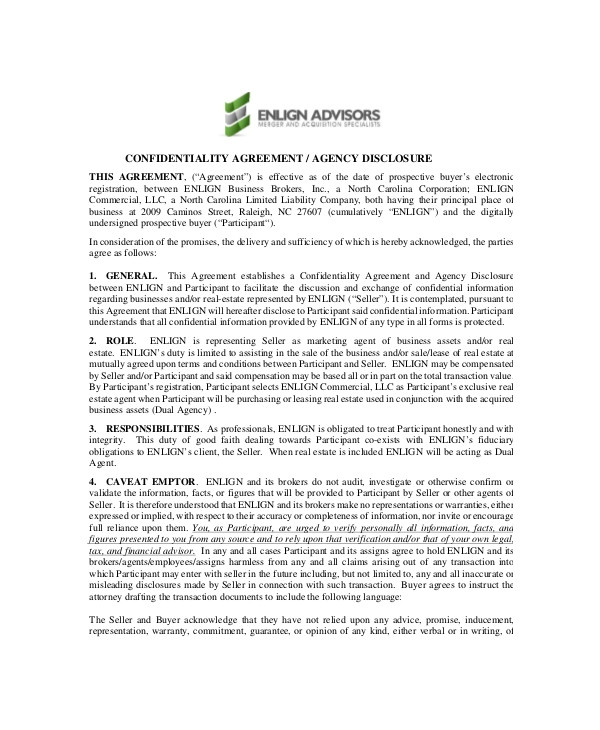 sample real estate confidentiality agreement