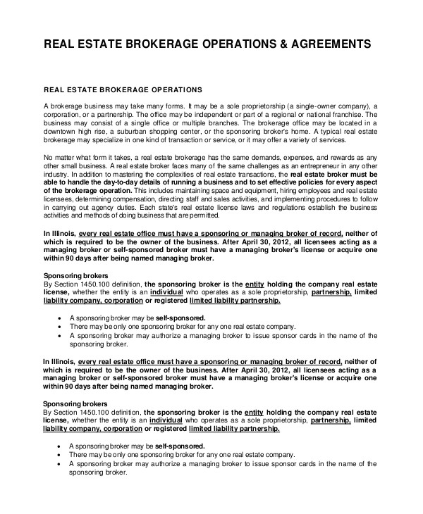 real estate employment agreement