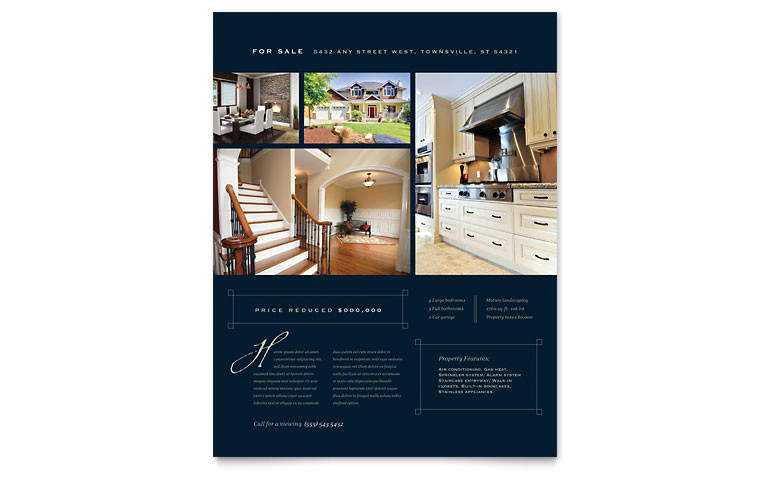 Real Estate Flyer Template Free Pdf Download Luxury Home Real Estate Flyer Template Word Publisher