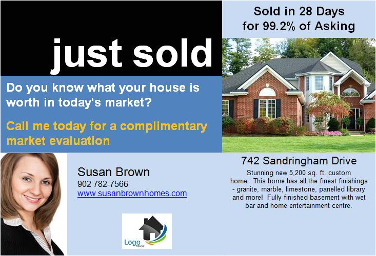 p real estate postcards just sold template 1769125