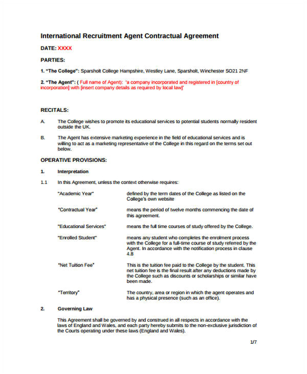 agreement templates in pdf