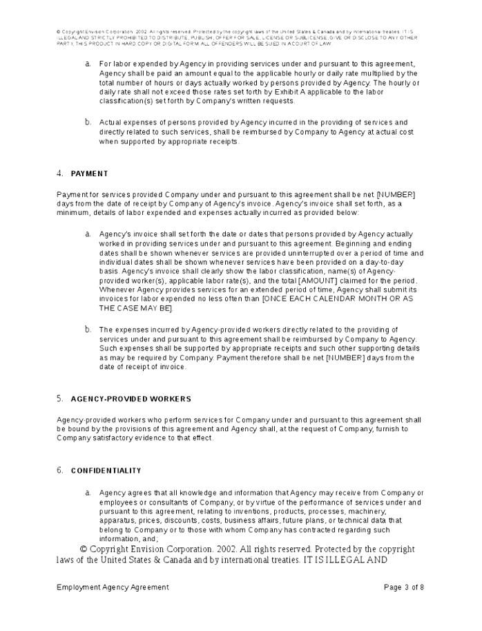 recruitment agency contract template